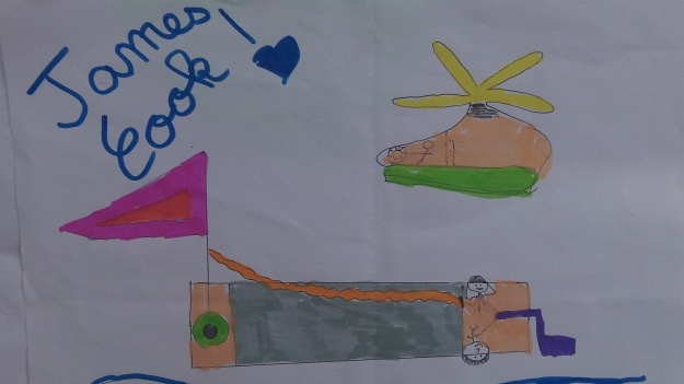 Les dessins des enfants de James Cook pour remercier la SRC et ses encadrants: un geste auquel nous sommes très sensible...