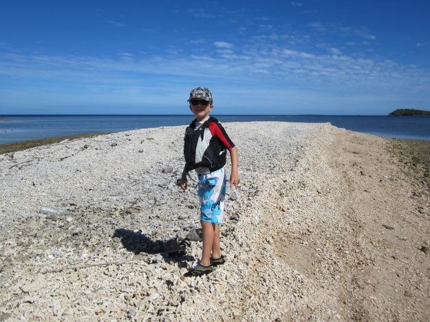 """A la découverte de cet îlot surnommé """"désert de coquillages"""" par les enfants."""