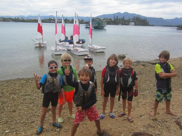 Bonne ambiance et escale îlot pour le groupe des débutants. ...