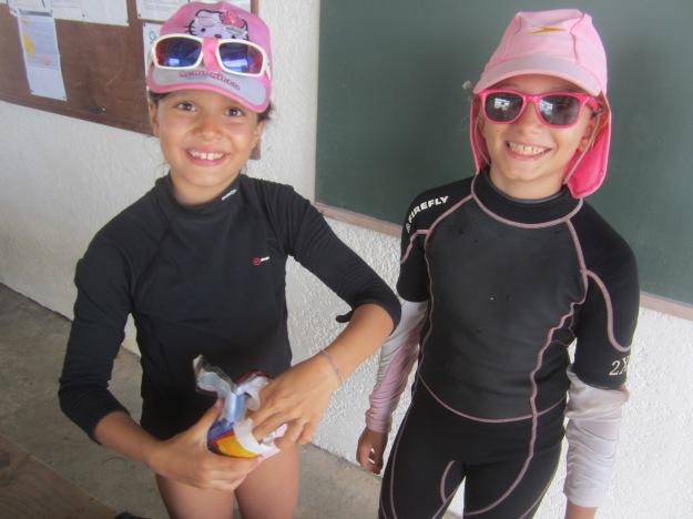 Lou Ba (à droite) et Yelena: deux copines qui se sont connues à la voile.