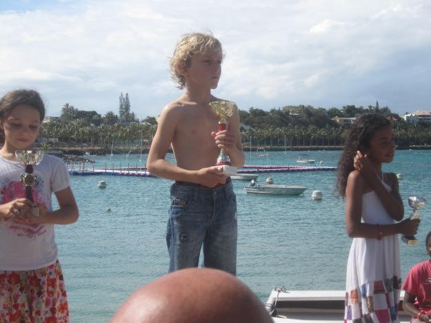 Le podium des moins de 9 ans: Raphaël Bouzigue est bien entouré !