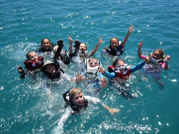 les baignades: un des moments de bonheur !