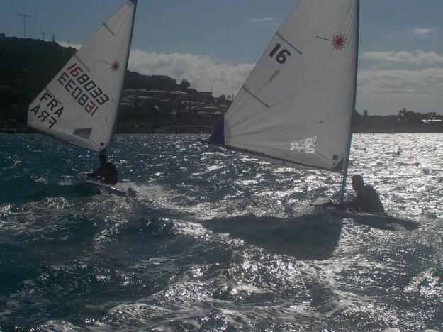 Comment faire partir en glisse le laser dans les vagues et comment conserver cette vitesse: c'était la problématique de l'entrainement du 16 septembre.
