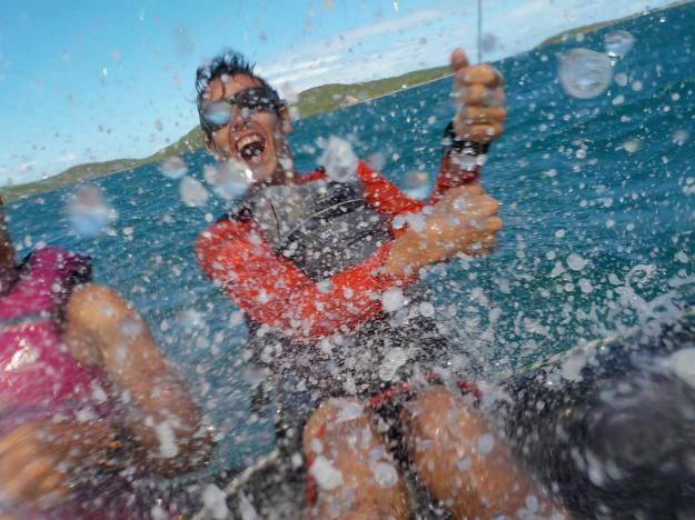 Ange a essayé le trimaran Weta vendredi 4 mars: sécurité, vitesse, sensations: l'image parle de bonheur!