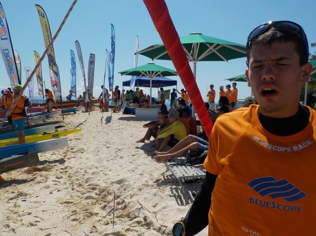 Beaucoup de monde sur la plage !