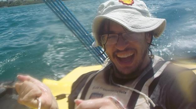 Guillaume Goyetche livre ses sensations après une première sortie en trimaran Weta.